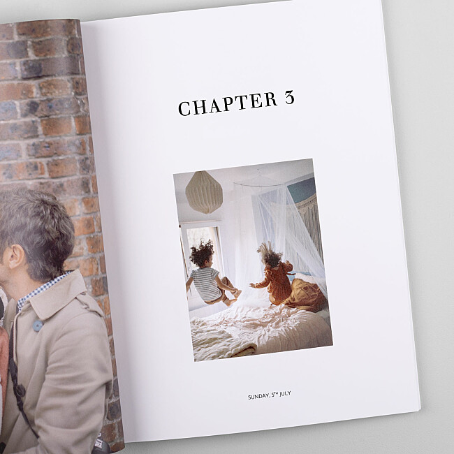 Softcover Photo Book Chapter Pages