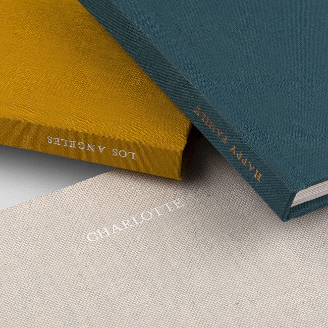 Personalised photo book spines