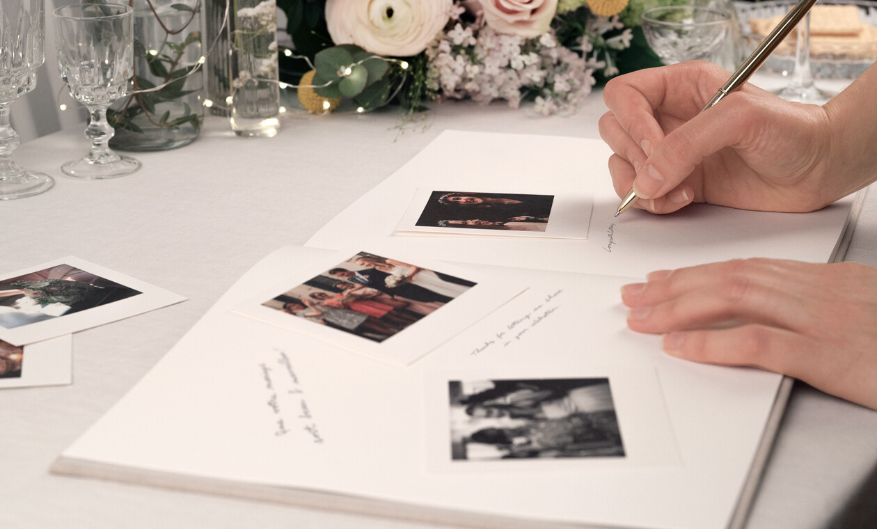 Inside your wedding guest book