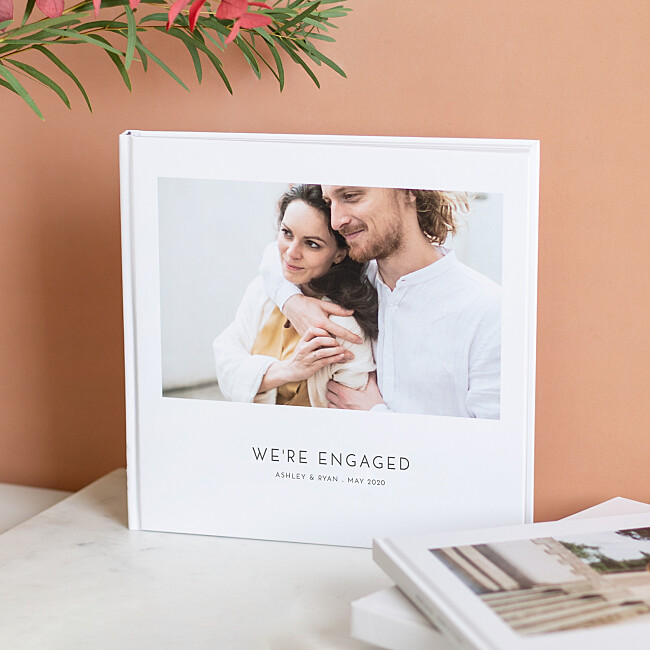 Photo books with a printed hardcover