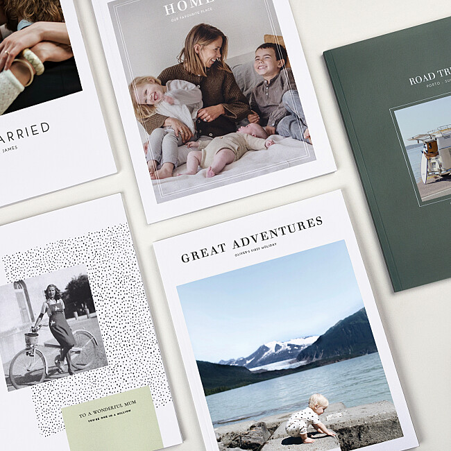 Softcover photo book designs