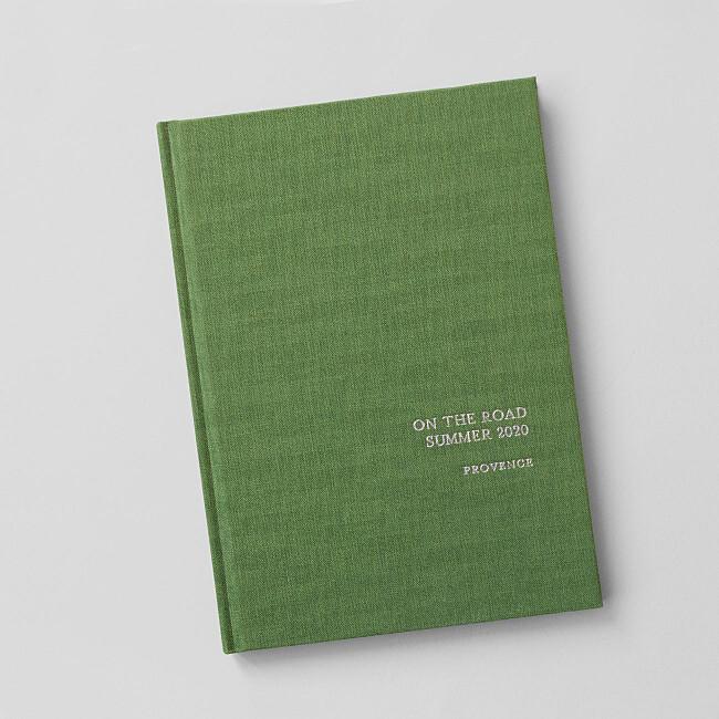 箔织物精装笔记本绿色