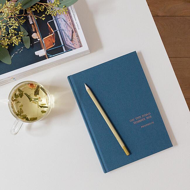 铝箔织物布莱克卫生笔记本蓝色