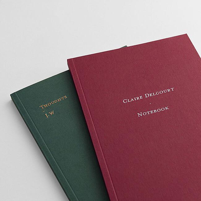 foil stamped lettering notebooks