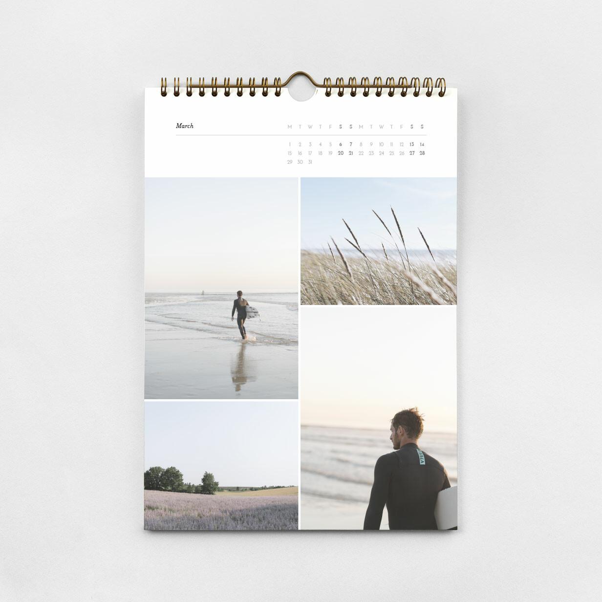 个性化A4照片日历
