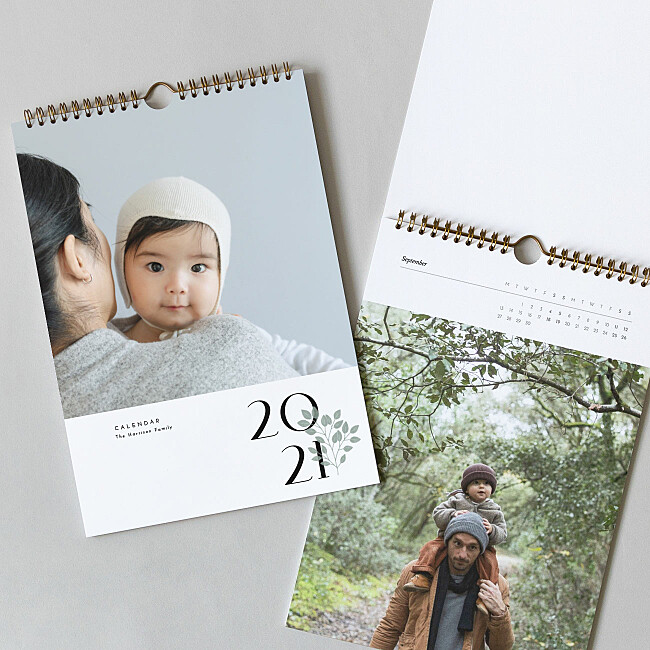 a4 photo calendar dad and child photo