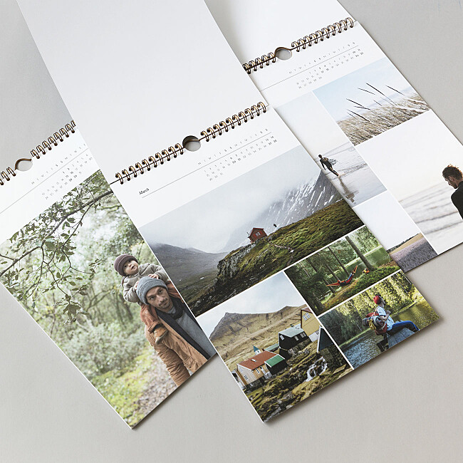 a4 photo calendar choice of templates