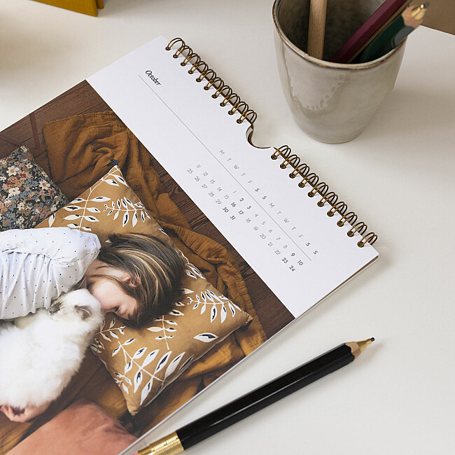 a4 photo calendar personalisable
