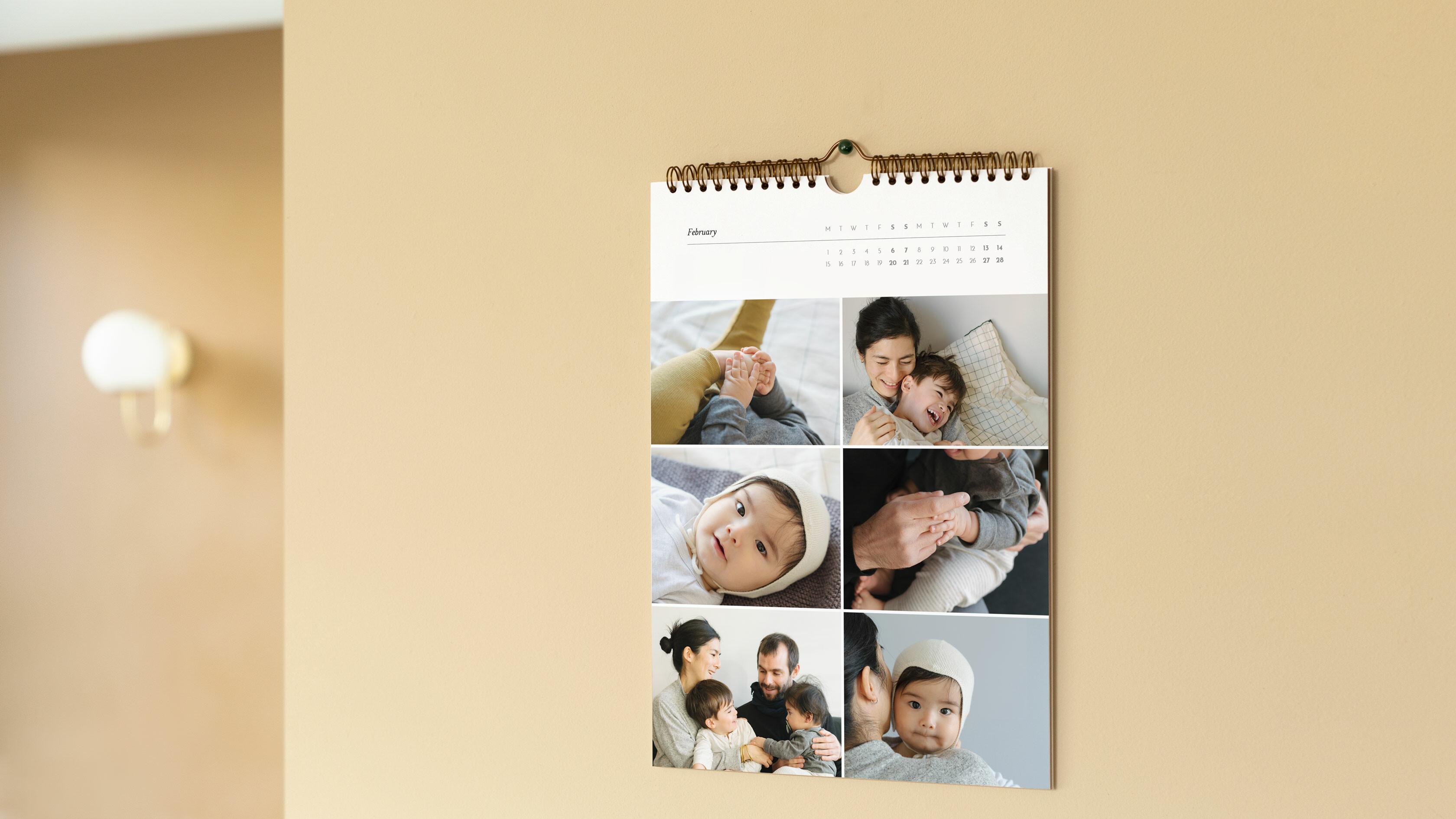 a4 photo calendar hanging