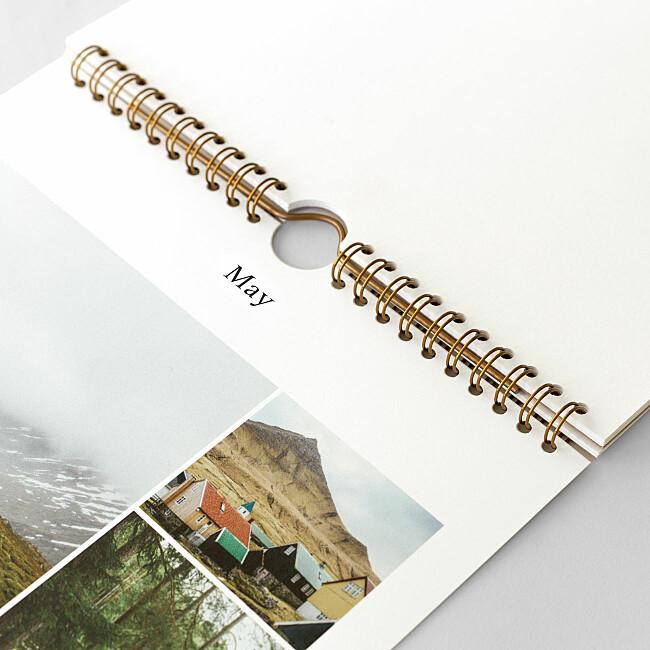 Spiral bound photo calendar