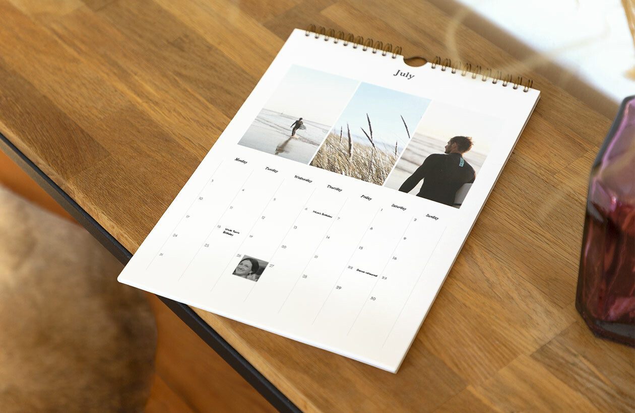 A4 personalised photo calendar