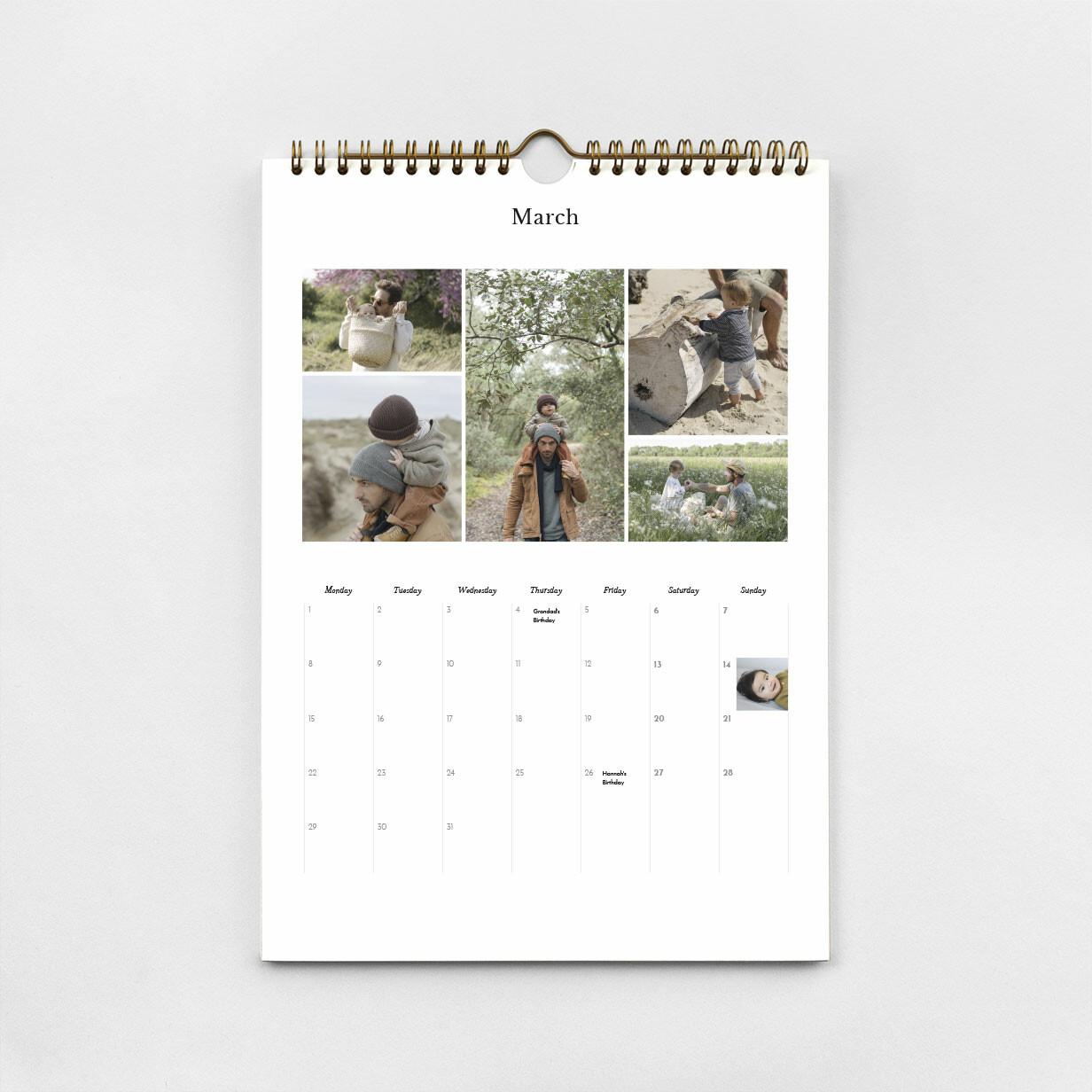 A4 Personalised Calendar