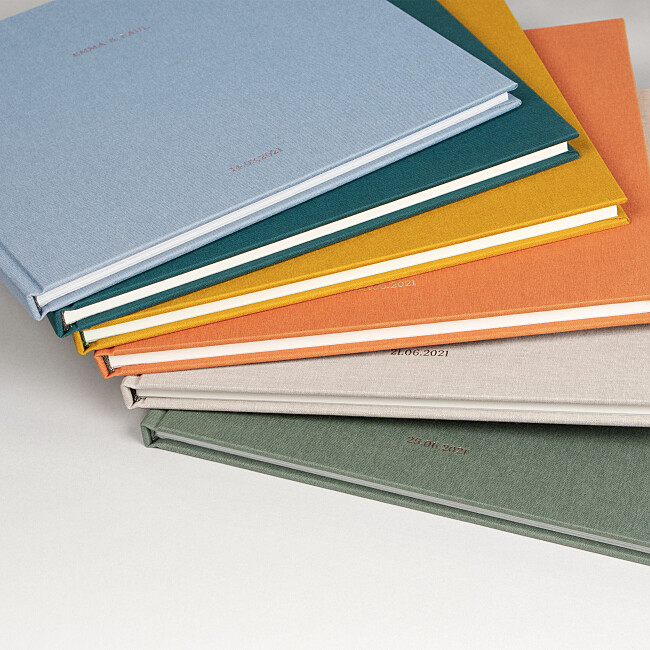 Luxury wedding guest book colours