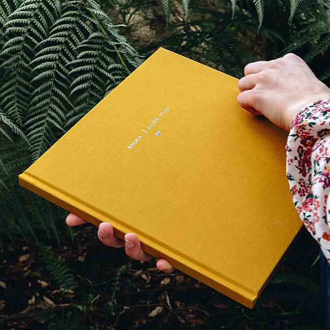 Fabric hardcover photo books