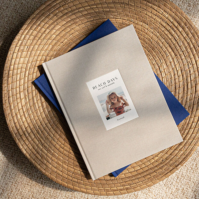 Fabric Photo Books with debossed photo cover