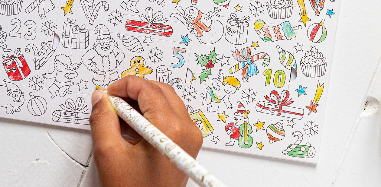 Colouring pencils to the ready