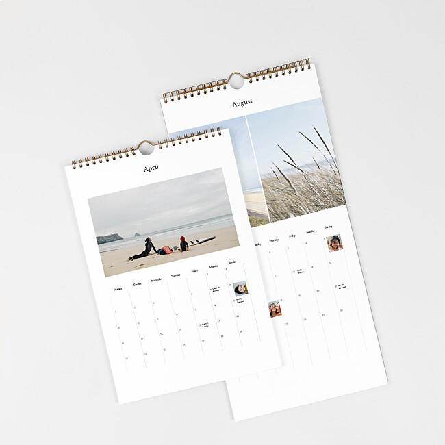 Choice of calendar covers