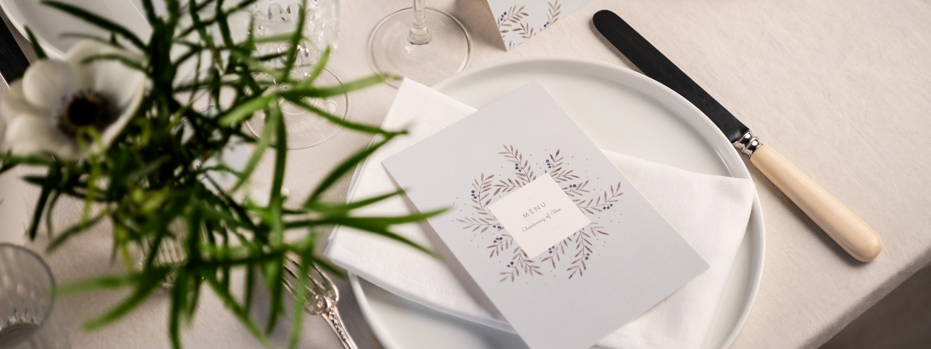 Christening Menus for Boys
