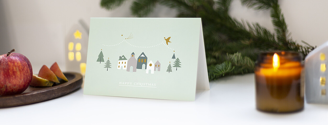 Brown Business Christmas Cards