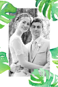 Wedding Thank You Cards Acapulco white & green