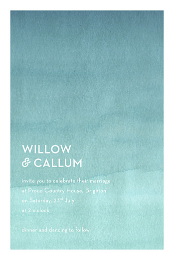 Wedding Invitations Watercolour blue - Page 1