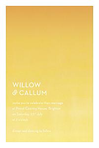 Wedding Invitations Watercolour yellow