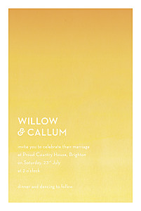 Watercolour yellow yellow wedding invitations
