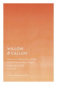 Watercolour orange orange wedding invitations