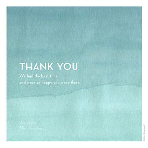 Watercolour blue blue wedding thank you cards