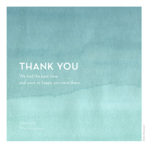 Wedding Thank You Cards Watercolour blue