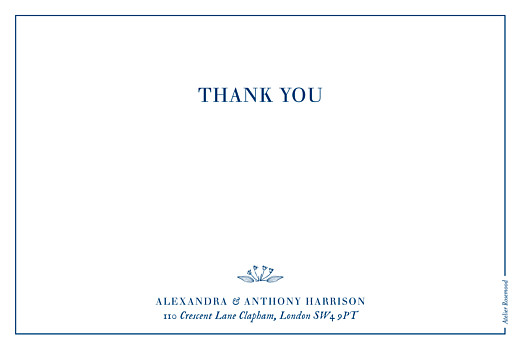 Wedding Thank You Cards Natural chic blue