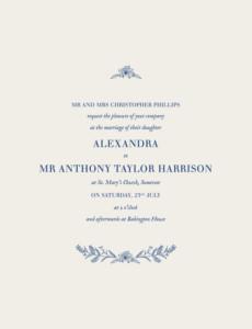 Wedding Invitations Natural chic blue