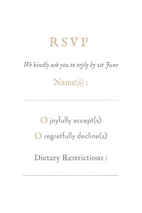 RSVP Cards Baby's breath grey