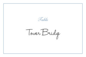 Table Numbers Chic border blue