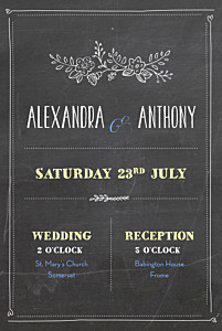 Wedding Invitations Slate black