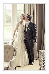 Grey chic border dark grey wedding thank you cards