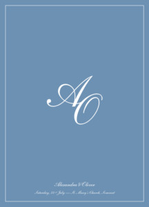 Order of Service Booklets Chic border blue