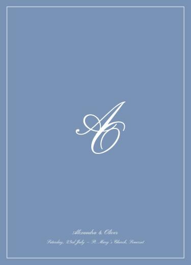 婚礼订购服务小册子别致的蓝色边框