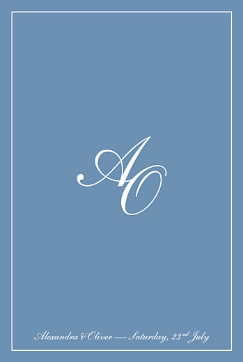 Wedding Invitations Chic border blue