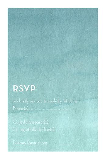 RSVP卡蓝色水彩