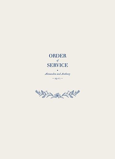 服务小册子的婚礼令天然别致蓝色