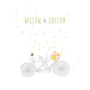 Tandem pink my lovely thing  wedding invitations