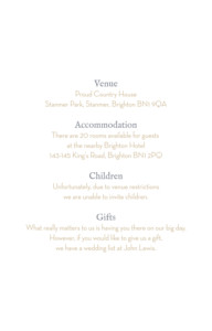 Guest Information Cards Baby's breath white