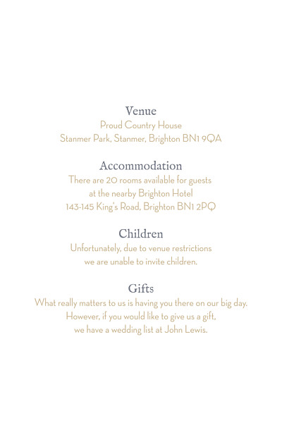 Guest Information Cards Baby's breath white finition