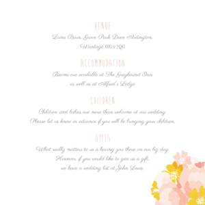 Guest Information Cards Tandem pink