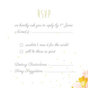 RSVP Cards Tandem pink
