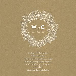 Wedding Invitations Baby's breath (square) kraft