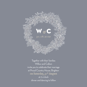 Wedding Invitations Baby's breath (square) grey