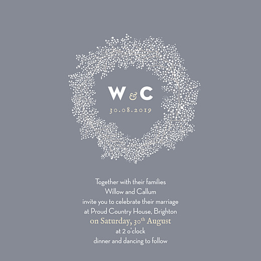 Wedding Invitations Baby's breath (square) grey - Page 1