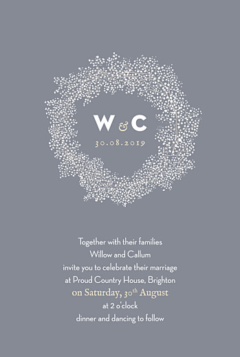 Wedding Invitations Baby's breath grey